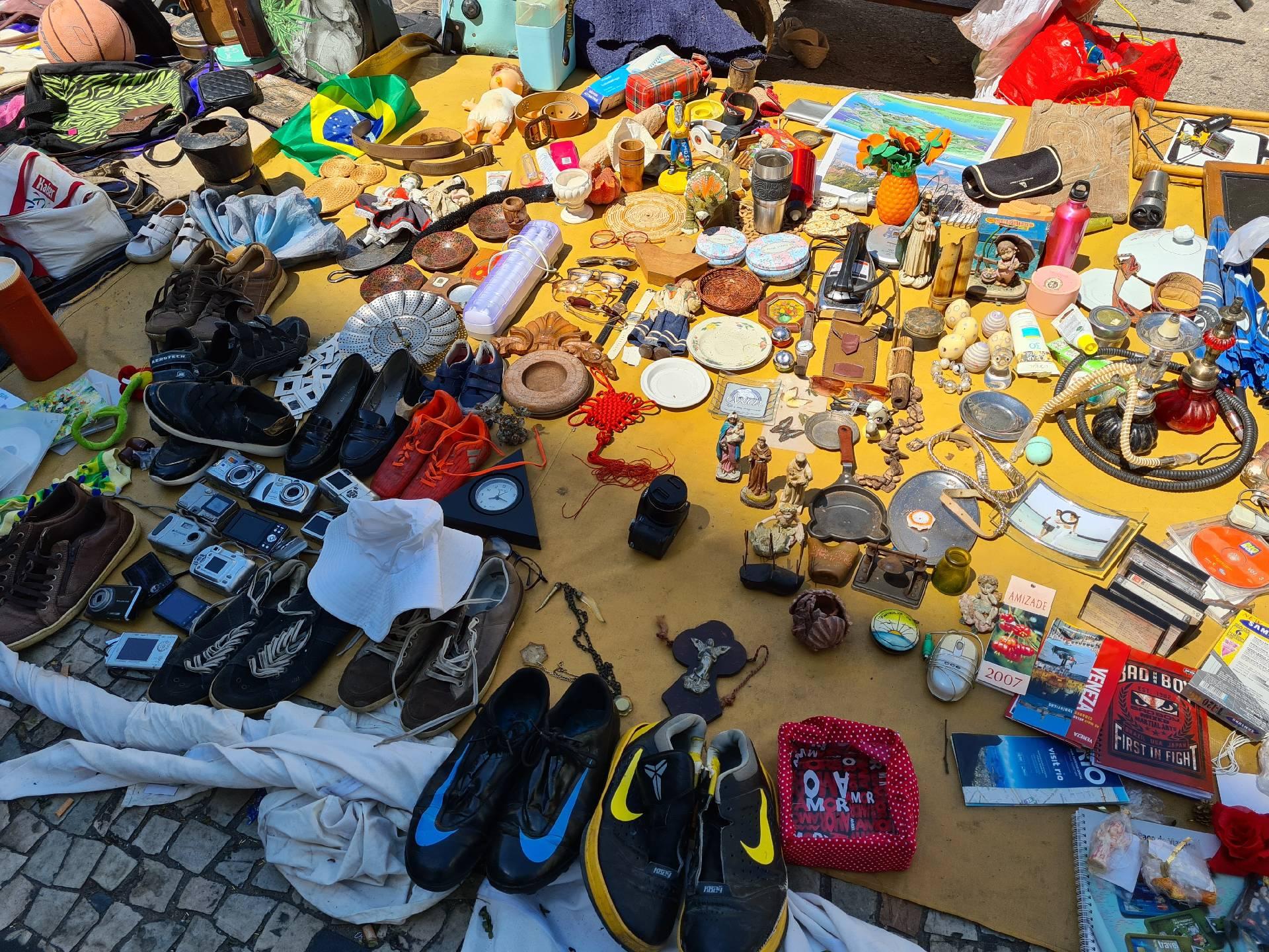лоток уличного торговца в Рио