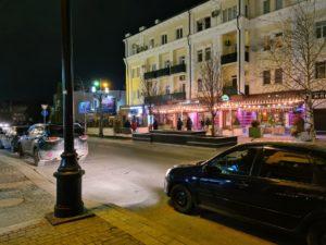 улицы Махачкалы ночью