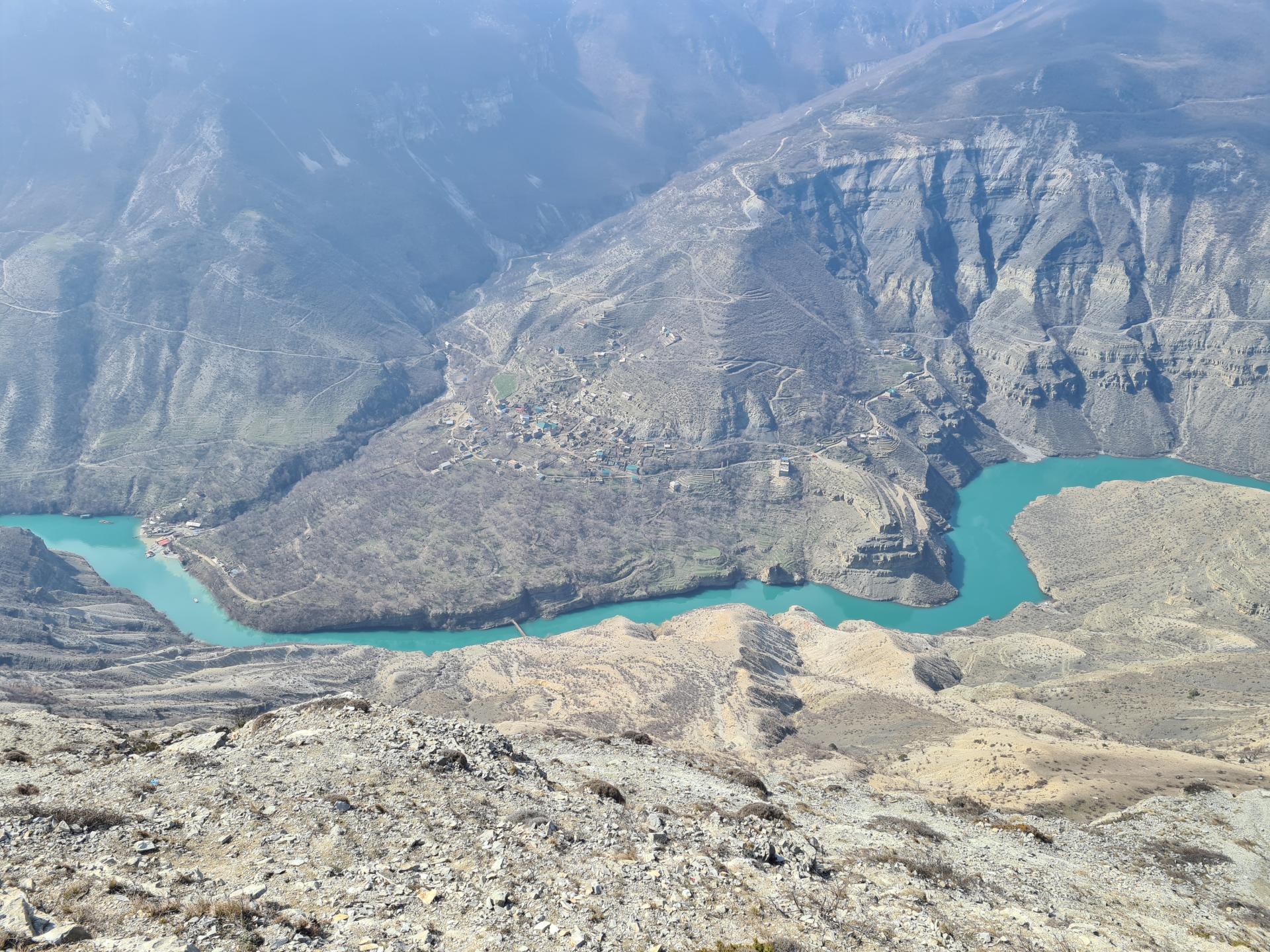 аул Зубутли в Сулакском каньоне