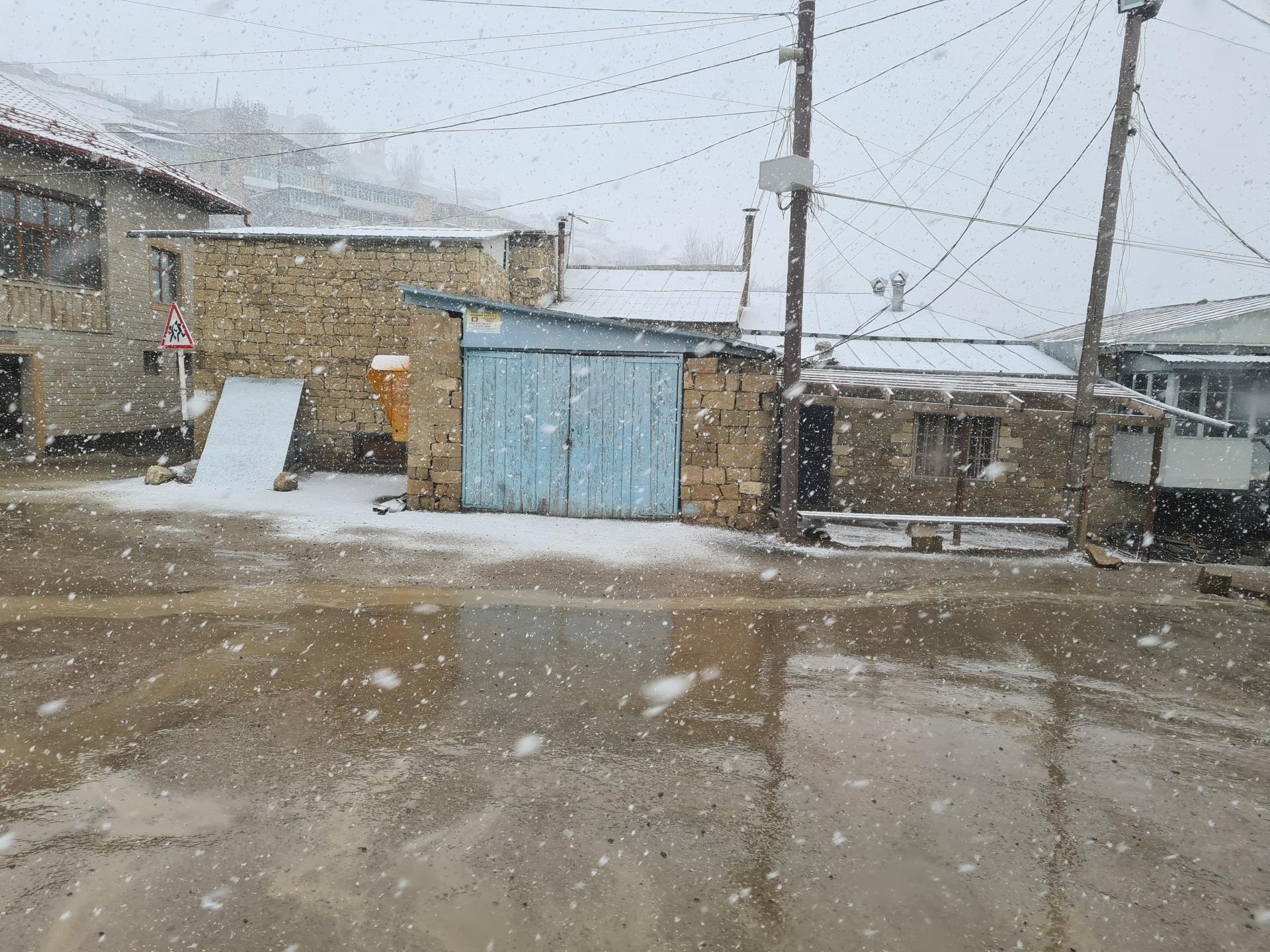 снегопад в ауле Чох