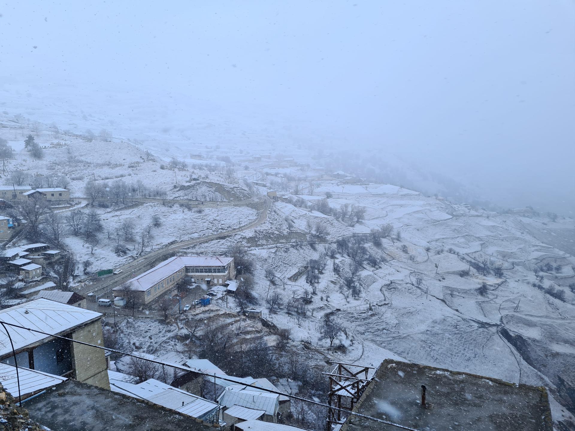 аул Чох в снегу
