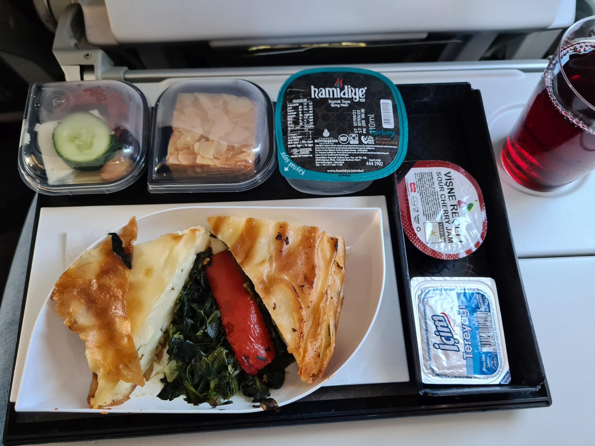 еда в самолете Turkish Airlines